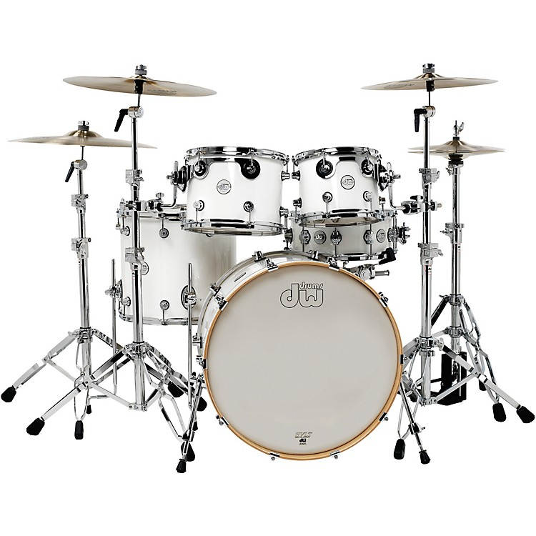DW Design Series 5-Piece Lacquer Shell Pack Gloss White