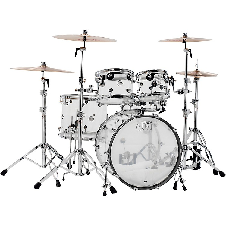 DWDesign Series Acrylic 5-Piece Shell Pack with Chrome HardwareClear