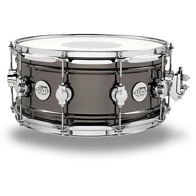 DWDesign Series Black Nickel over Brass Snare Drum14x6.5 Inch