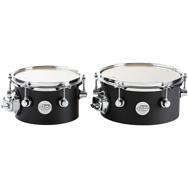 DW Design Series Concert Tom Set with Mount 8/10 Inch Black Satin