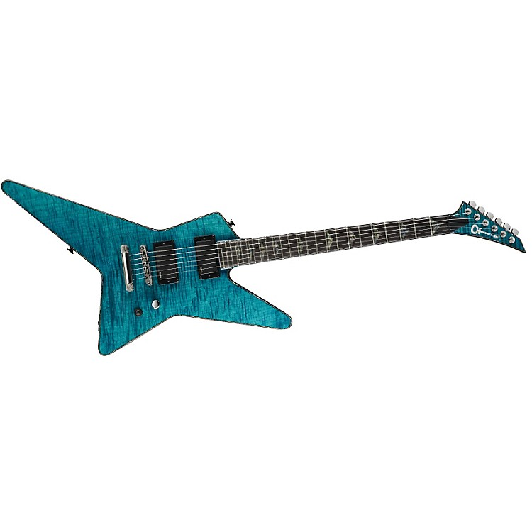 Charvel Desolation DST-1 ST Star Electric Guitar Transparent Blue