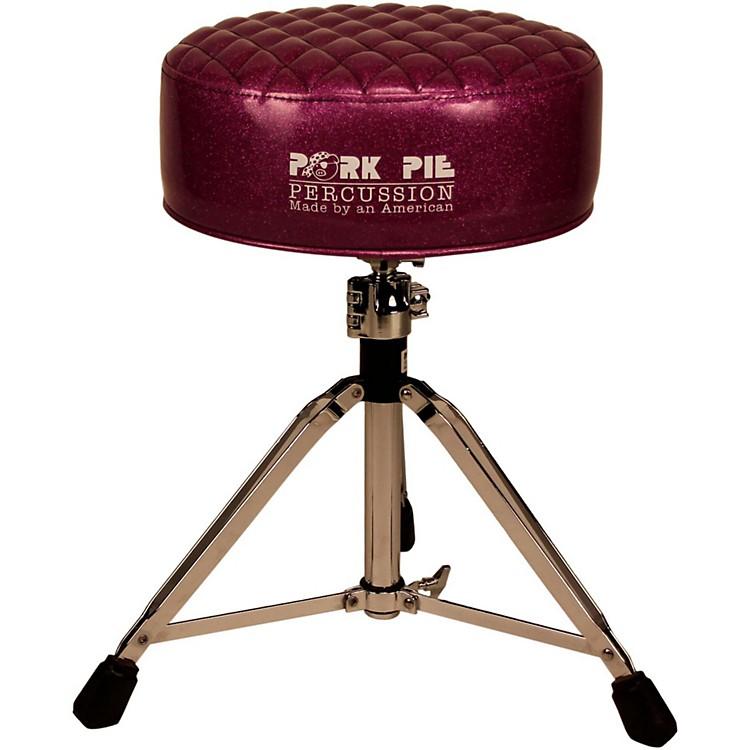 Pork PieDeuce Diamond Tuck Round Drum ThronePurple