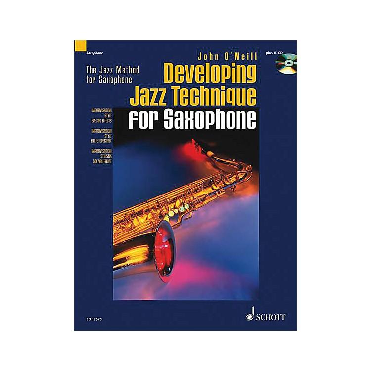 SchottDeveloping Jazz Technique for Saxophone (The Jazz Method) Schott Series Book with CD