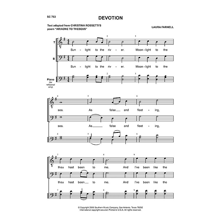 SouthernDevotion TB Composed by Laura Farnell