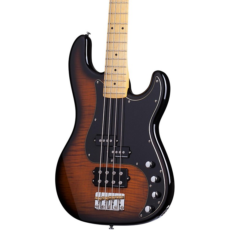 Schecter Guitar ResearchDiamond-P Plus Electric Bass GuitarDark Vintage Sunburst