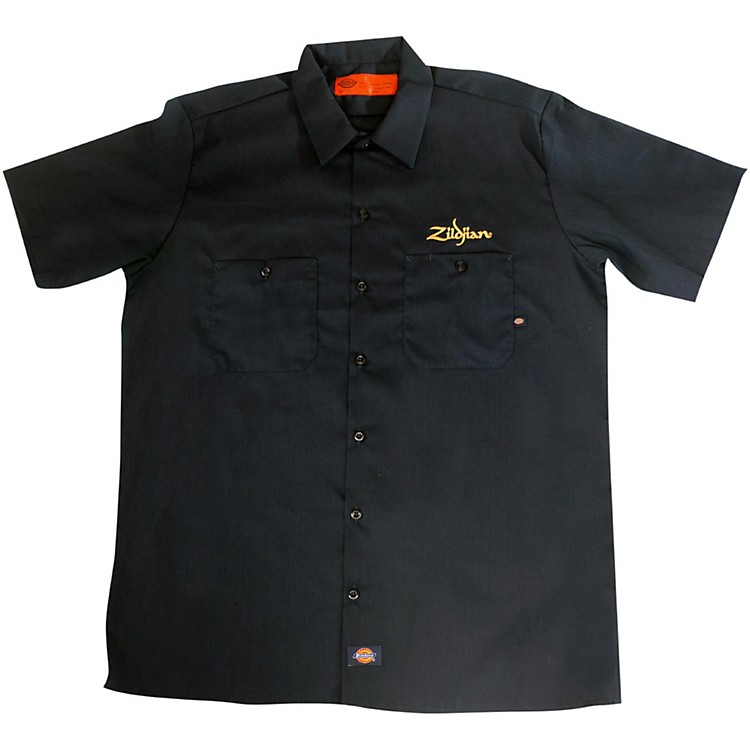 Zildjian Dickies Work Shirt Black Small