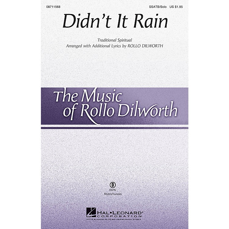 Hal LeonardDidn't It Rain SSATB CHORUS AND SOLO arranged by Rollo Dilworth