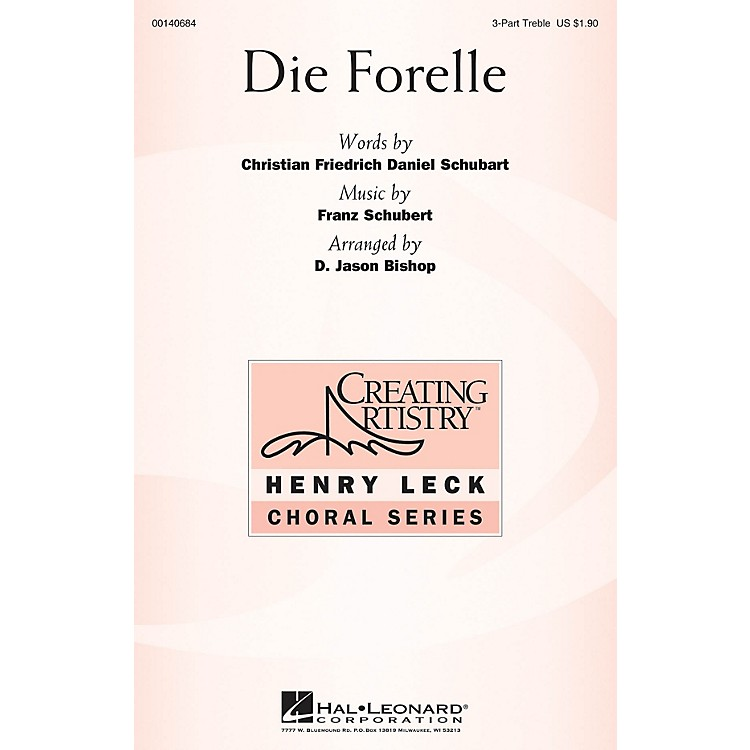 Hal LeonardDie Forelle 3 Part Treble arranged by D. Jason Bishop