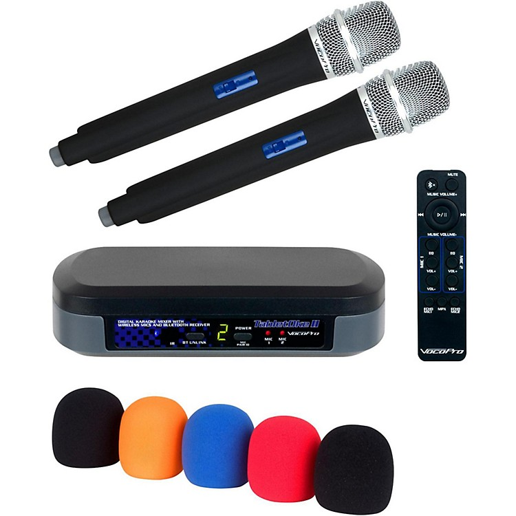 VocoProDigital Karaoke Mixer with Wireless Mics and Bluetooth Receiver And Mic Wind Screen(5)