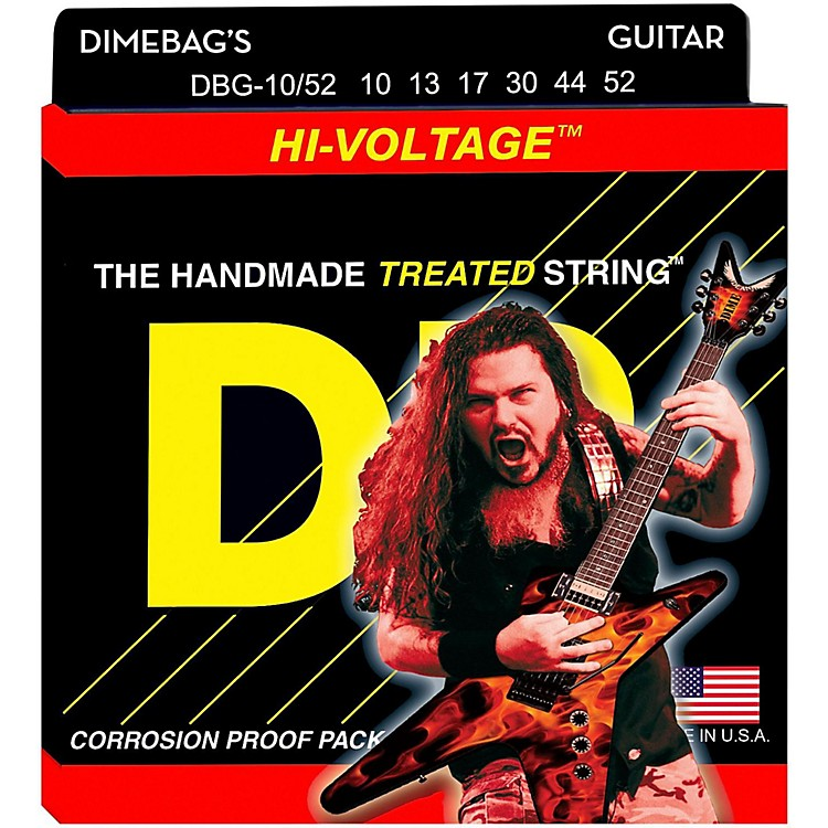 DR StringsDimebag Darrell DBG-10/52 Medium-Heavy Hi-Voltage Electric Guitar Strings