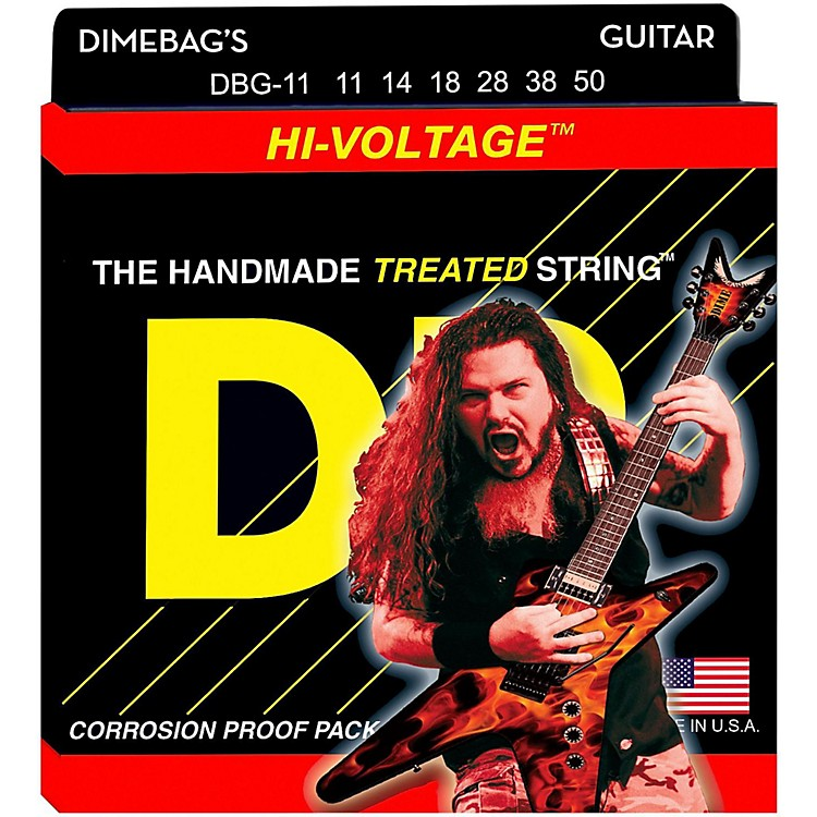 DR Strings Dimebag Darrell DBG-11 Extra Heavy Hi-Voltage Electric Guitar Strings