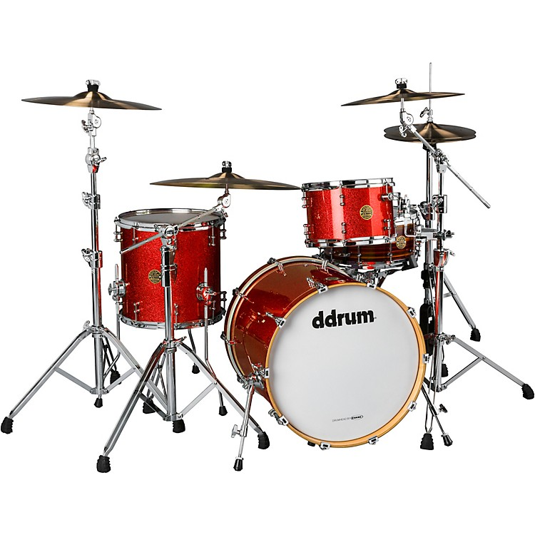 Ddrum Dios 3-Piece Shell Pack Cherry Red Sparkle