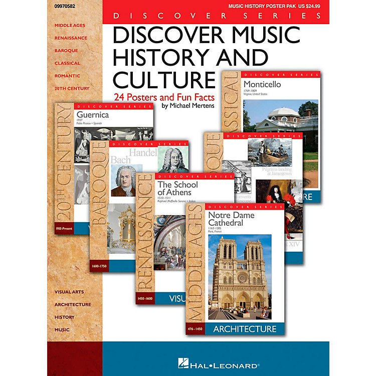 Hal LeonardDiscover Music History And Culture - Set Of 24 Posters and Fun Facts
