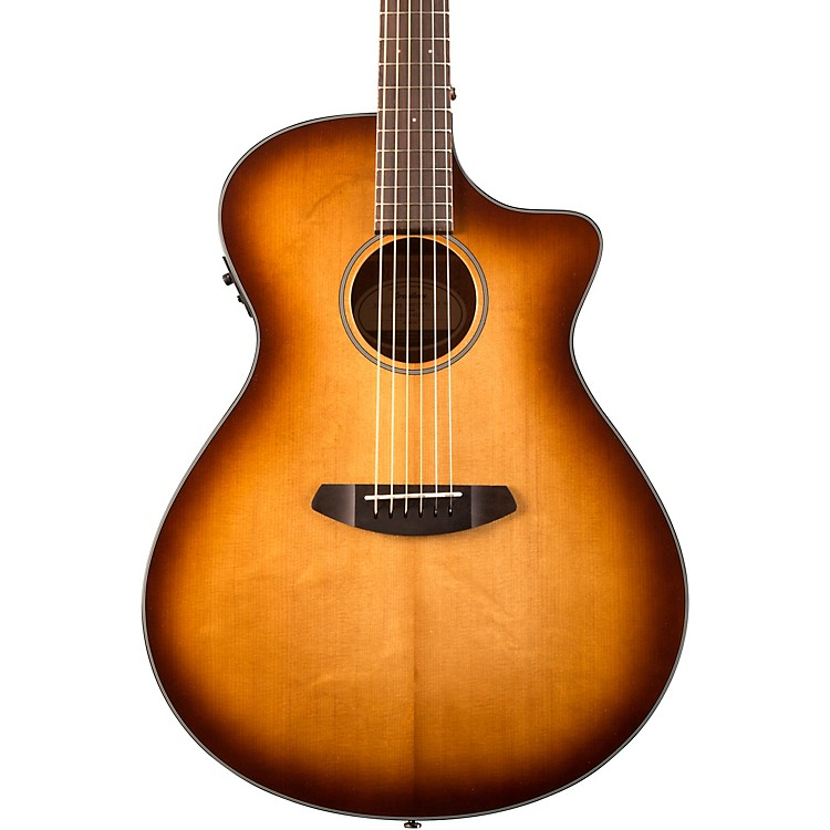 Breedlove Discovery DSCO14CESSMA Concerto Acoustic-Electric Guitar Whiskey Burst