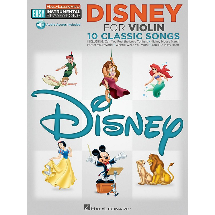 Hal Leonard Disney - Violin - Easy Instrumental Play-Along Book with Online Audio Tracks