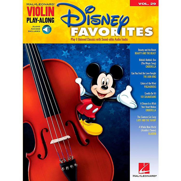 Hal Leonard Disney Favorites - Violin Play-Along Volume 29 Book/CD