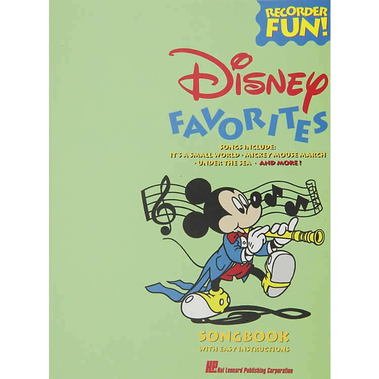 Hal Leonard Disney Favorites Recorder Songbook