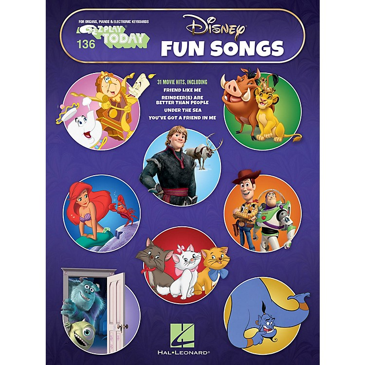 Hal Leonard Disney Fun Songs E-Z Play Today Volume 136 Songbook