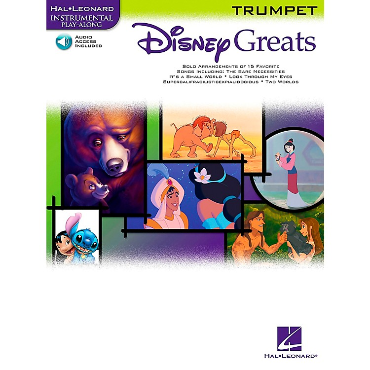Hal Leonard Disney Greats for Trumpet Book/Online Audio Instrumental Play-Along