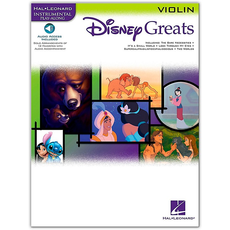 Hal Leonard Disney Greats for Violin Book/Online Audio Instrumental Play-Along