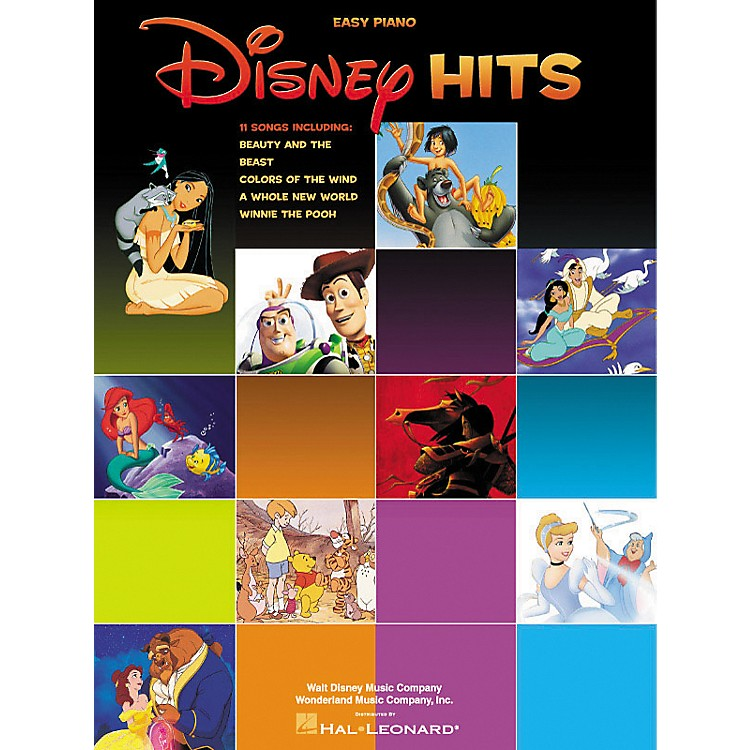 Hal Leonard Disney Hits For Easy Piano