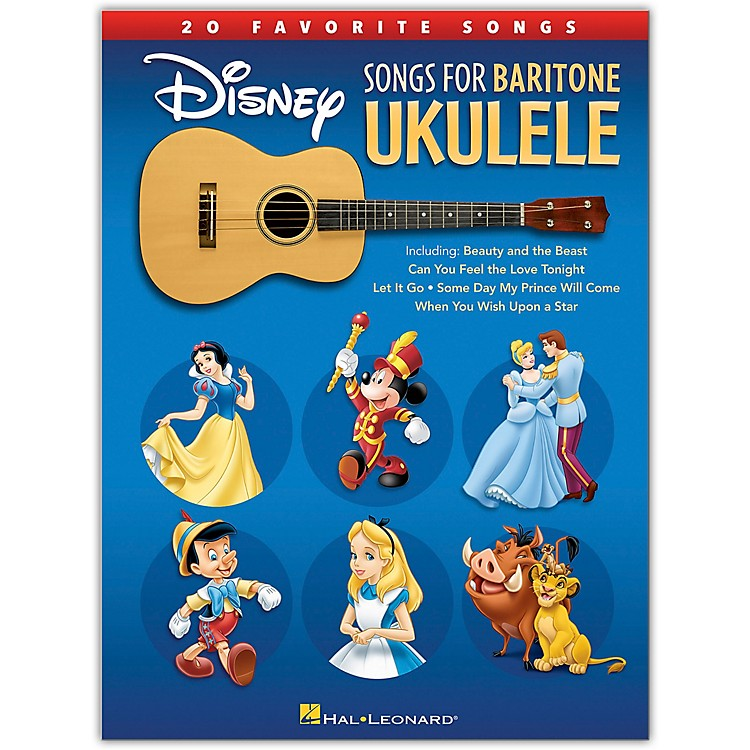 Hal Leonard Disney Songs for Baritone Ukulele - 20 Favorite Songs