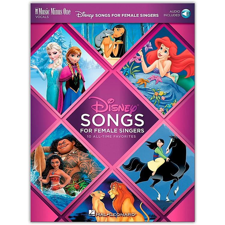 Music Minus OneDisney Songs for Female Singers 10 All-Time Favorites with Fully-Orchestrated Backing Tracks Book/Audio Online