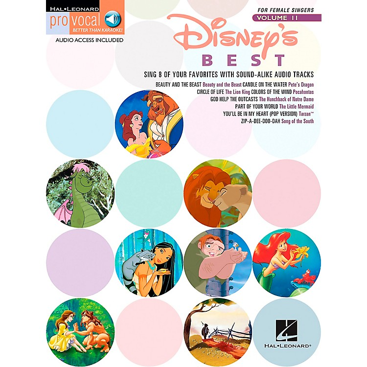 Hal Leonard Disney's Best - Pro Vocal Songbook for Female Singers Volume 11 Book/CD