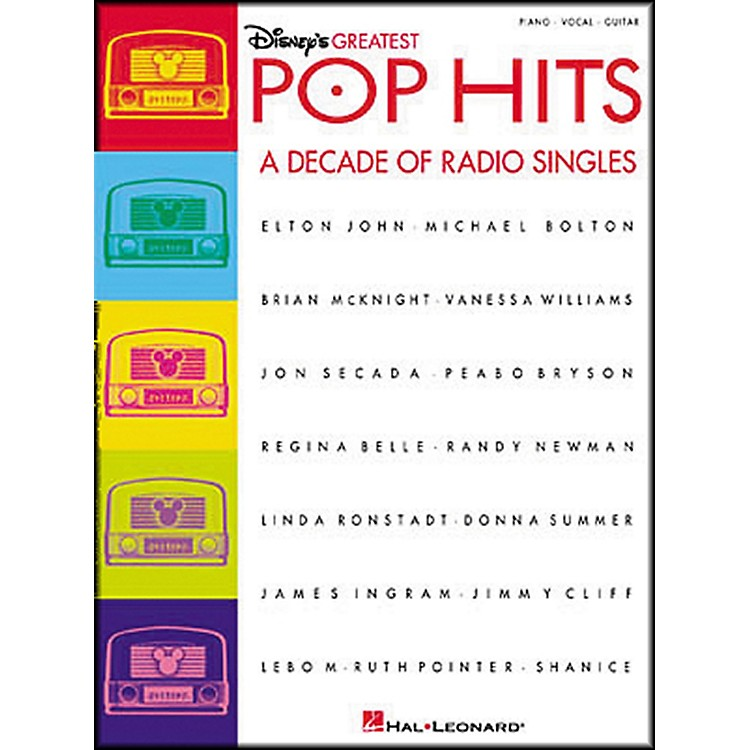 Hal Leonard Disney's Greatest Pop Hits Piano, Vocal, Guitar Songbook