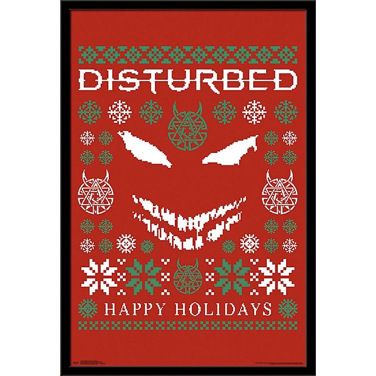 Trends InternationalDisturbed - Ugly Xmas Sweater PosterFramedBlack