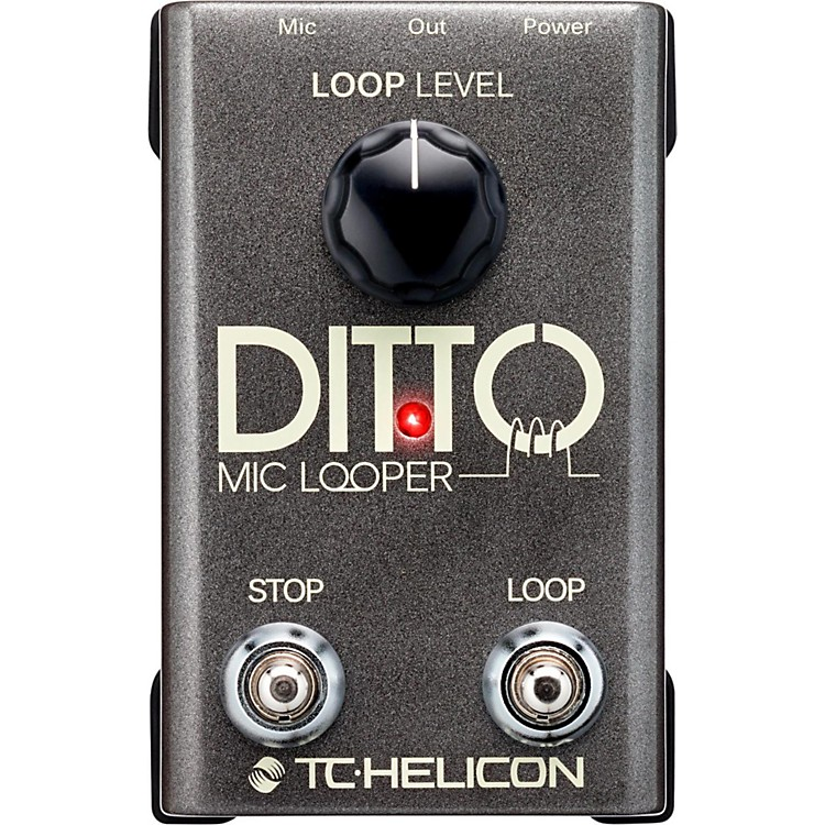 TC Helicon Ditto Mic Looper Pedal  888365830032