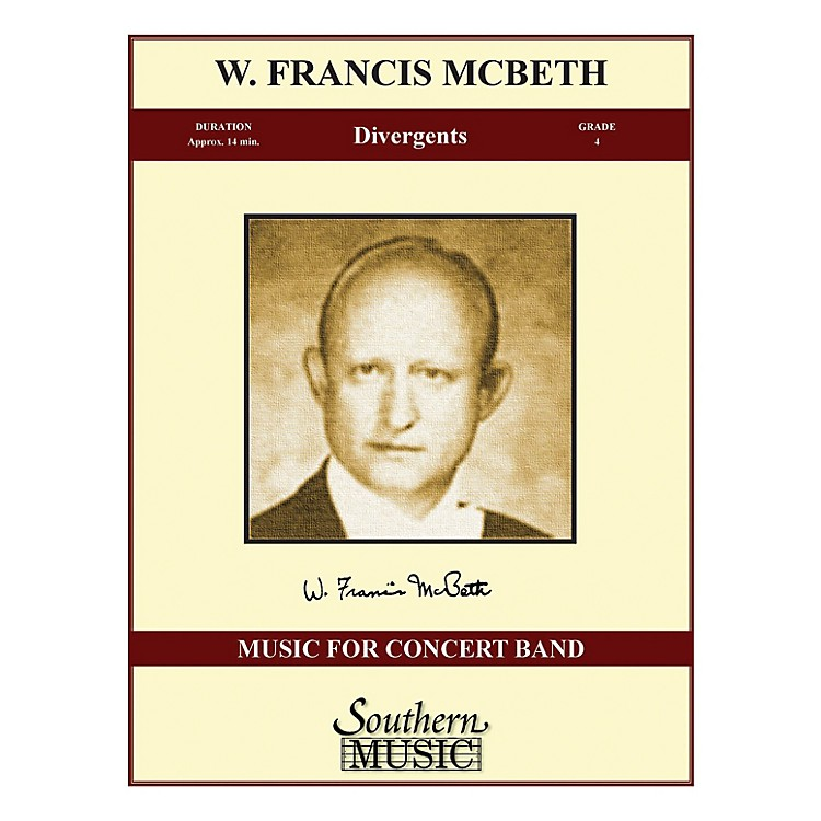 SouthernDivergents (Band/Concert Band Music) Concert Band Level 4 Composed by W. Francis McBeth