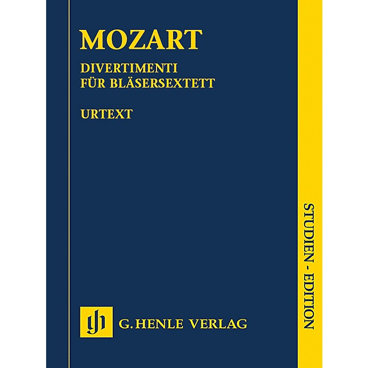G. Henle VerlagDivertimenti for 2 Oboes, 2 Horns and 2 Bassoons Henle Study Scores by Mozart Edited by Felix Loy