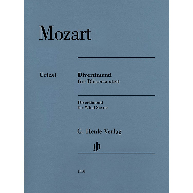G. Henle VerlagDivertimenti for 2 Oboes, 2 Horns and 2 Bassoons by Wolfgang Amadeus Mozart Edited by Felix Loy
