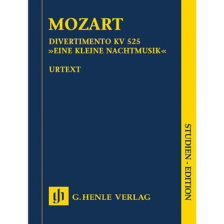 G. Henle VerlagDivertimento K525 Eine kleine Nachtmusik Henle Study Scores by Mozart Edited by Wolf-Dieter Seiffert