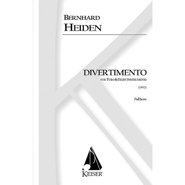 Lauren Keiser Music PublishingDivertimento for Tuba and Eight Instruments (Full Score) LKM Music Series Composed by Bernhard Heiden