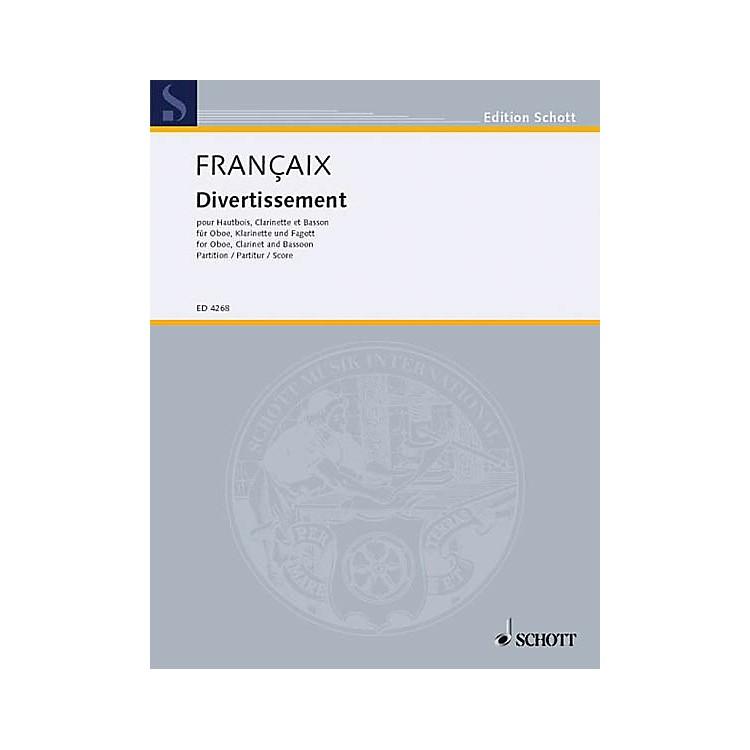 SchottDivertissement (Score) Schott Series by Jean Françaix