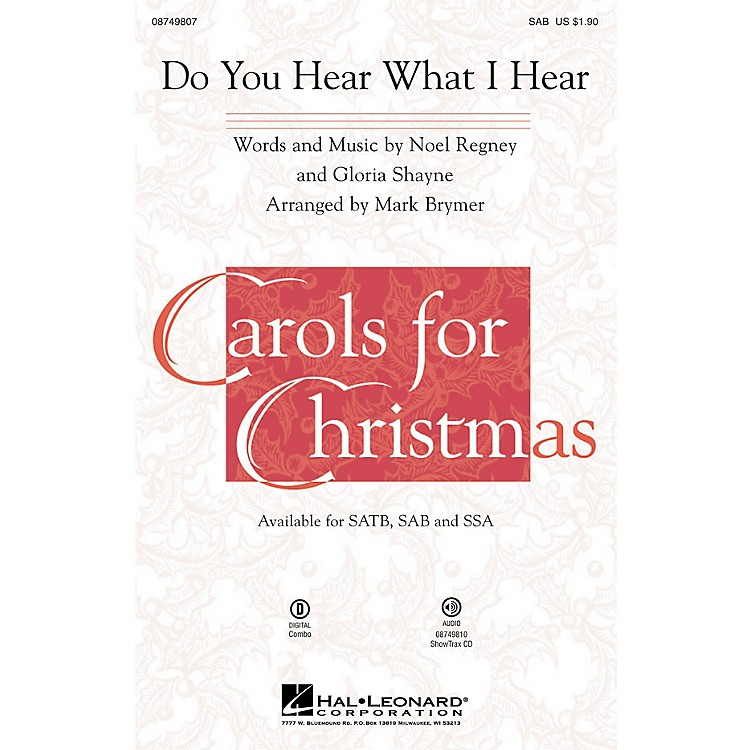 Hal Leonard Do You Hear What I Hear? SAB arranged by Mark Brymer