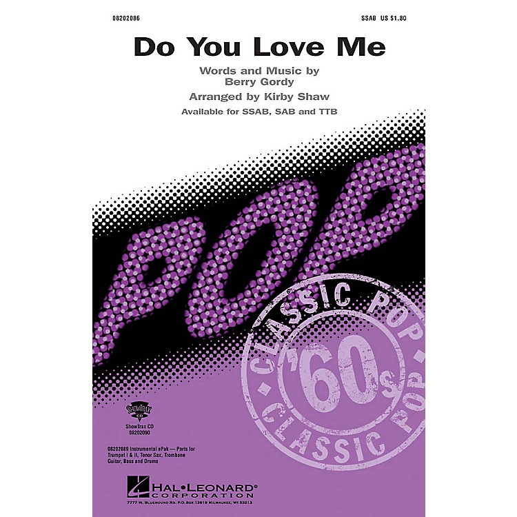 Hal LeonardDo You Love Me ShowTrax CD Arranged by Kirby Shaw