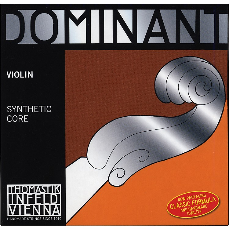 Thomastik Dominant 1/16 Size Violin Strings 1/16 Set, Wound E  String, Ball End