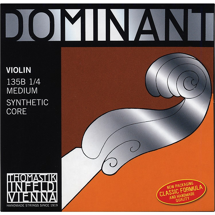 Thomastik Dominant 1/4 Size Violin Strings 1/4 Wound E String, Ball End