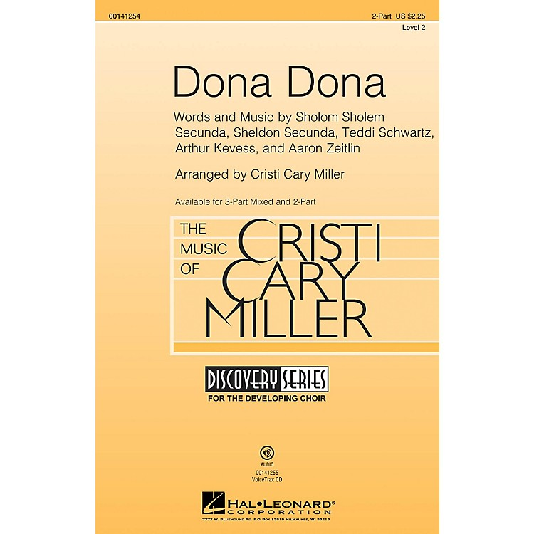 Hal Leonard Dona Dona (Discovery Level 2) 2-Part arranged by Cristi Cary Miller