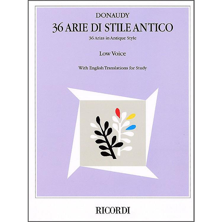 Hal LeonardDonaudy - 36 Arie Di Stile Antico for Low Voice