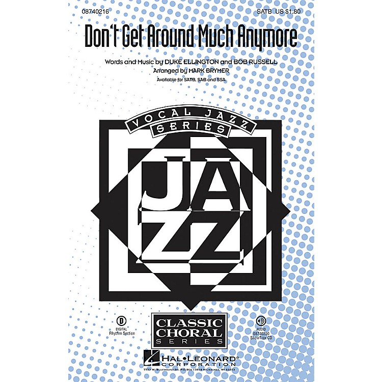 Hal Leonard Don't Get Around Much Anymore ShowTrax CD Arranged by Mark Brymer