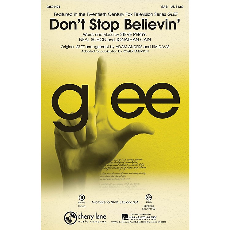 Cherry LaneDon't Stop Believin' (from Glee) SAB by Journey arranged by Roger Emerson