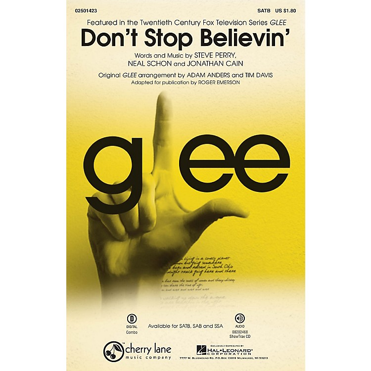Cherry LaneDon't Stop Believin' (from Glee) ShowTrax CD by Journey Arranged by Roger Emerson