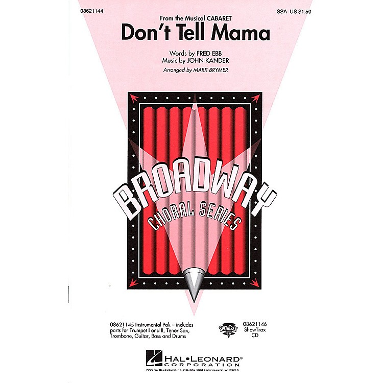Hal LeonardDon't Tell Mama (from Cabaret) ShowTrax CD Arranged by Mark Brymer