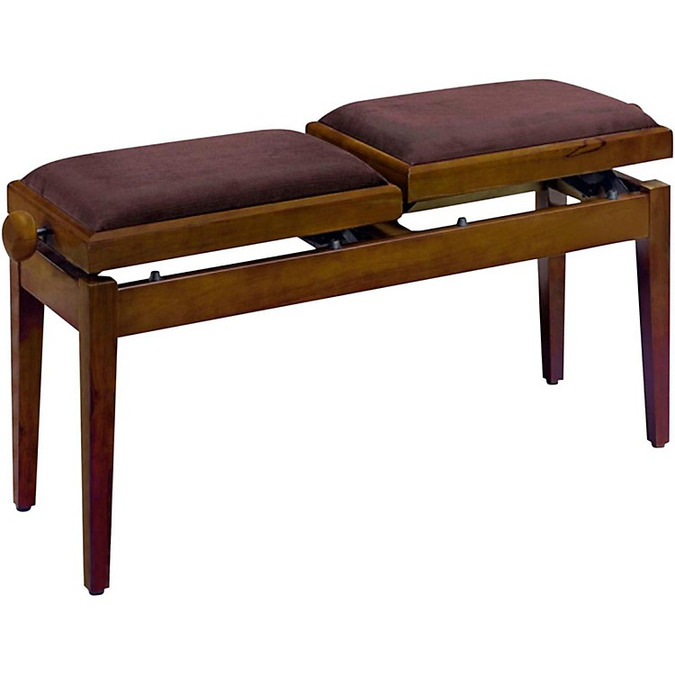 Musician S Gear Double Adjustable Piano Bench Walnut Matt