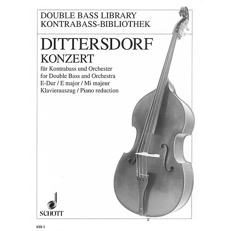 SchottDouble Bass Concerto in E Major, Krebs 172 by Karl Ditters von Dittersdorf Arranged Franz Tischer-Zeitz