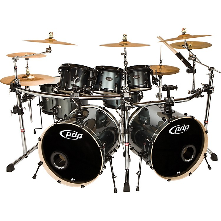 PDP by DW Double Drive 8-Piece Shell Pack Gray Metal